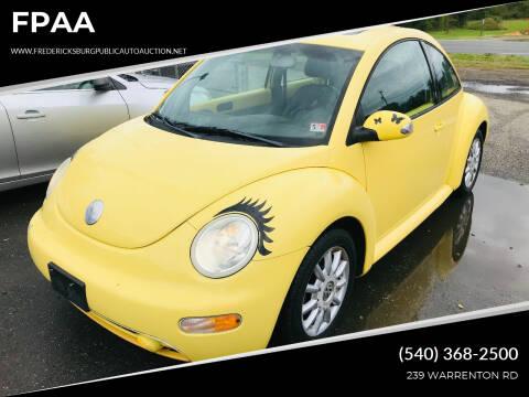 2004 Volkswagen New Beetle for sale at FPAA in Fredericksburg VA