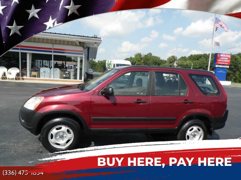 2004 Honda CR-V for sale at CAROLINA MOTORS in Thomasville NC