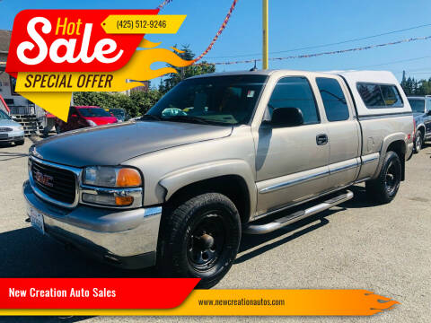 2002 GMC Sierra 1500 for sale at New Creation Auto Sales in Everett WA