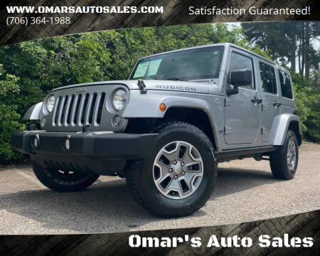 2014 Jeep Wrangler Unlimited for sale at Omar's Auto Sales in Martinez GA