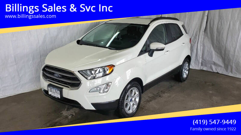 2019 Ford EcoSport for sale at Billings Sales & Svc Inc in Clyde OH