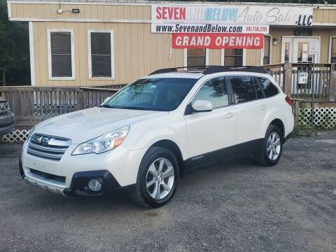 2013 Subaru Outback for sale at Seven and Below Auto Sales, LLC in Rockville MD