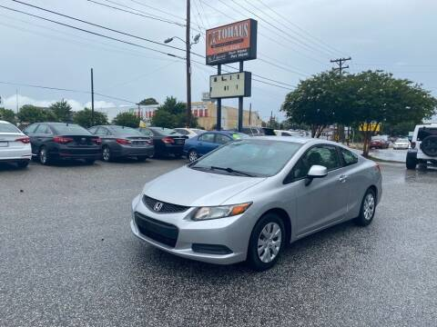 2012 Honda Civic for sale at Autohaus of Greensboro in Greensboro NC