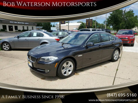 2013 BMW 5 Series for sale at Bob Waterson Motorsports in South Elgin IL