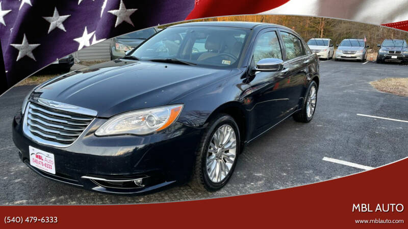 2012 Chrysler 200 for sale at MBL Auto Woodford in Woodford VA