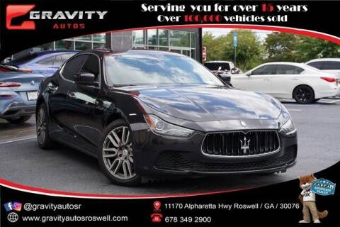 2016 Maserati Ghibli for sale at Gravity Autos Roswell in Roswell GA