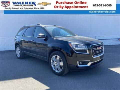 2017 GMC Acadia Limited for sale at WALKER CHEVROLET in Franklin TN