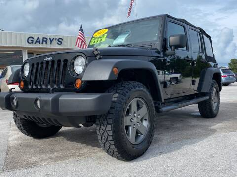 2011 Jeep Wrangler Unlimited for sale at Gary's Auto Sales in Sneads NC