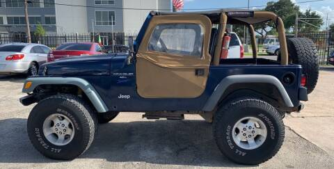2000 Jeep Wrangler for sale at FAIR DEAL AUTO SALES INC in Houston TX