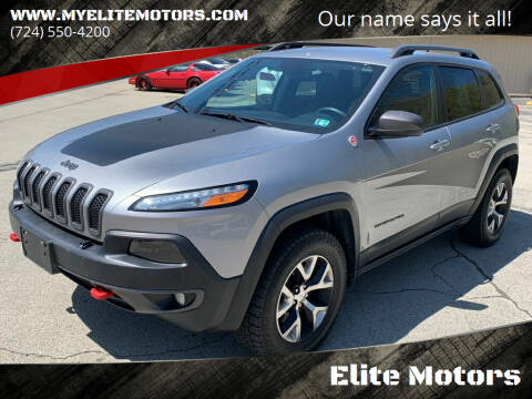 2015 Jeep Cherokee for sale at Elite Motors in Uniontown PA