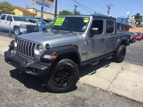 2020 Jeep Gladiator for sale at 2955 FIRESTONE BLVD in South Gate CA