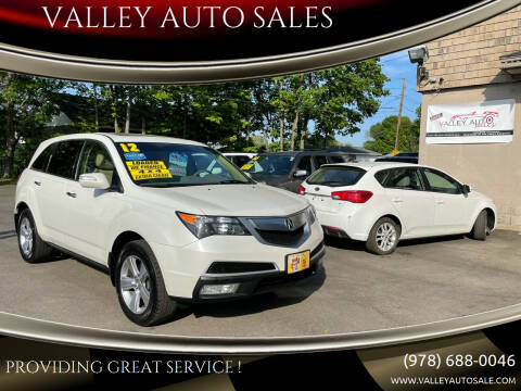 2012 Acura MDX for sale at VALLEY AUTO SALES in Methuen MA