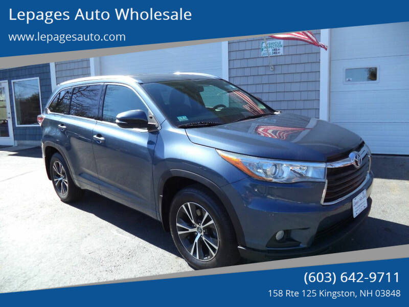 2016 Toyota Highlander for sale at Lepages Auto Wholesale in Kingston NH