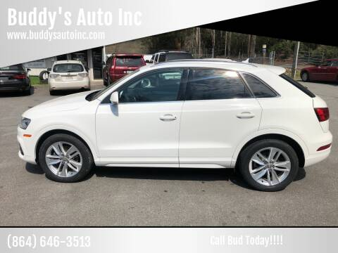 2016 Audi Q3 for sale at Buddy's Auto Inc in Pendleton, SC