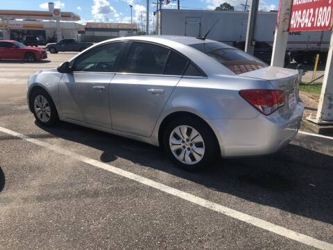 2012 Chevrolet Cruze for sale at Spartan Auto Sales in Beaumont TX
