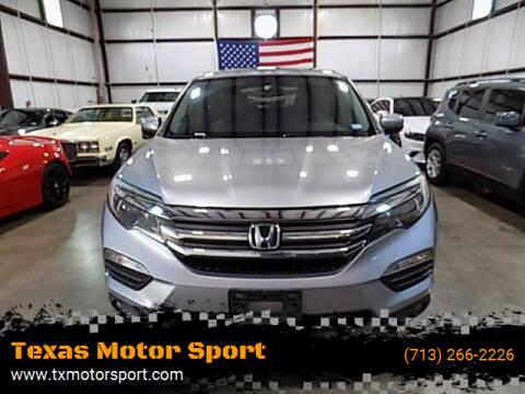 2016 Honda Pilot for sale at Texas Motor Sport in Houston TX