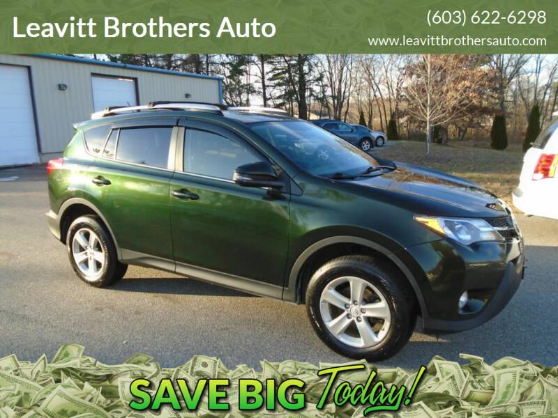 2013 Toyota RAV4 for sale at Leavitt Brothers Auto in Hooksett NH