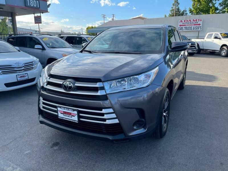 2018 Toyota Highlander for sale at Adams Auto Sales in Sacramento CA