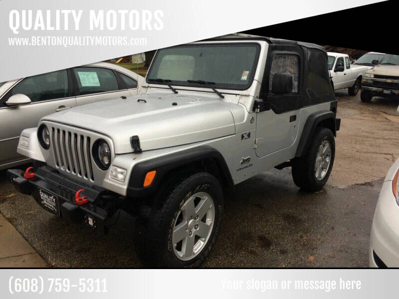 2005 Jeep Wrangler for sale at QUALITY MOTORS in Benton WI