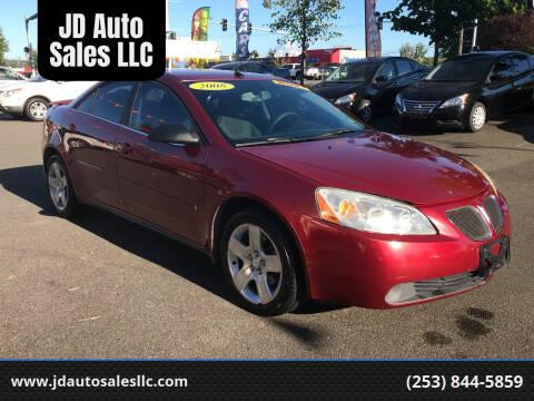 2008 Pontiac G6 for sale at JD Auto Sales LLC in Fife WA