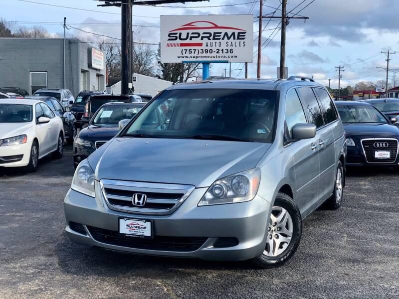 2006 Honda Odyssey for sale at Supreme Auto Sales in Chesapeake VA