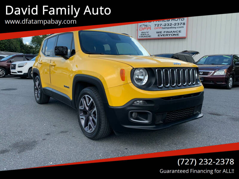 2016 Jeep Renegade for sale at David Family Auto in New Port Richey FL