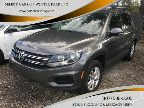 2016 Volkswagen Tiguan for sale at Select Cars Of Winter Park Inc in Orlando FL