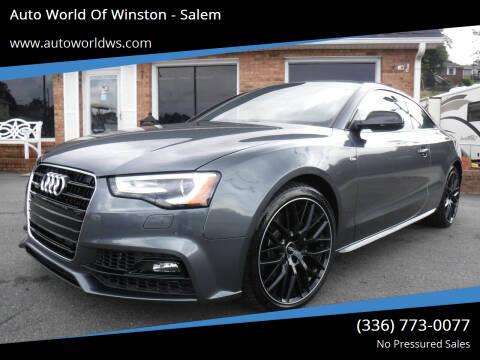 2016 Audi A5 for sale at Auto World Of Winston - Salem in Winston Salem NC