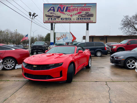 2019 Chevrolet Camaro for sale at ANF AUTO FINANCE in Houston TX