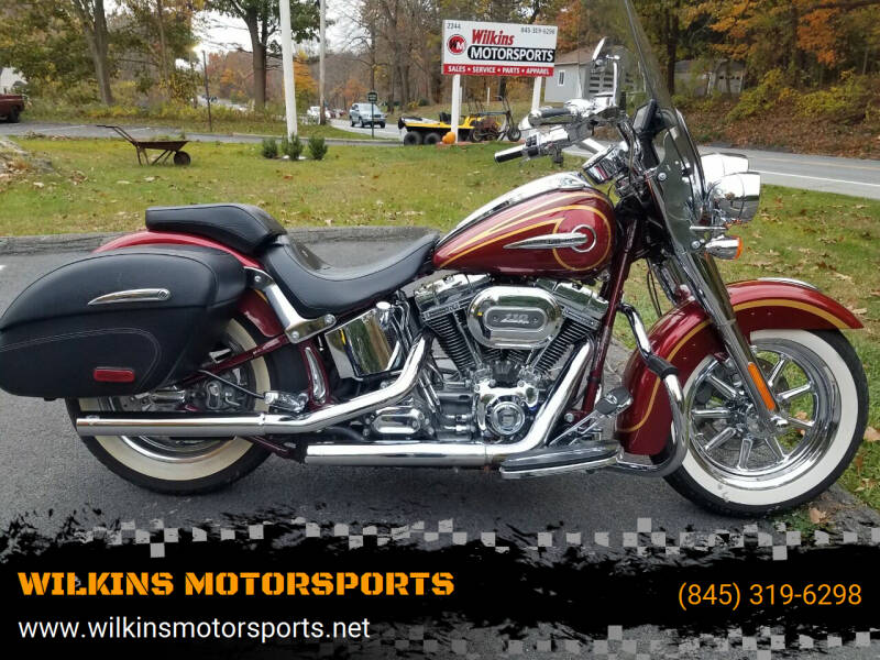 2014 Harley-Davidson Softail Deluxe CVO for sale at WILKINS MOTORSPORTS in Brewster NY