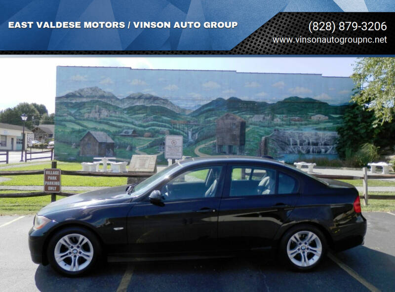 2008 BMW 3 Series for sale at EAST VALDESE MOTORS / VINSON AUTO GROUP in Valdese NC