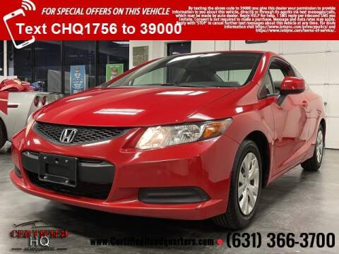 2012 Honda Civic for sale at CERTIFIED HEADQUARTERS in St James NY