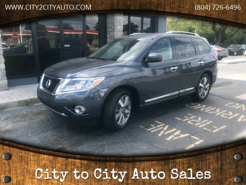 2014 Nissan Pathfinder for sale at City to City Auto Sales - Raceway in Richmond VA