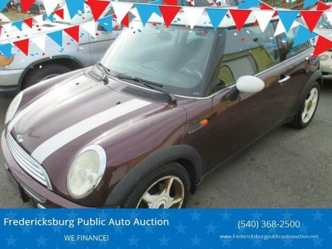 2003 MINI Cooper for sale at FPAA in Fredericksburg VA