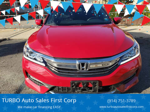 2017 Honda Accord for sale at TURBO Auto Sales First Corp in Yonkers NY