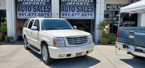 2006 Cadillac Escalade for sale at Affordable Imports Auto Sales in Murrieta CA