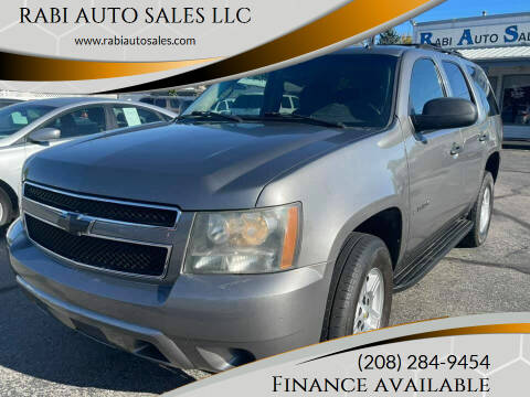 2007 Chevrolet Tahoe for sale at RABI AUTO SALES LLC in Garden City ID