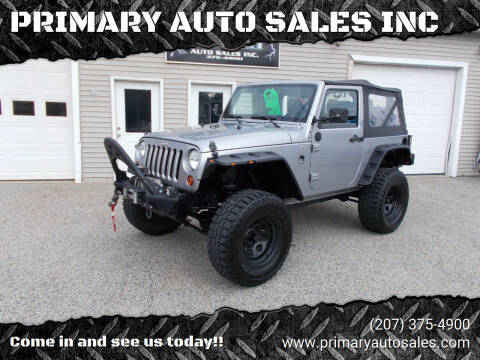 2013 Jeep Wrangler for sale at PRIMARY AUTO SALES INC in Sabattus ME