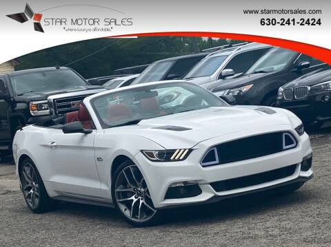 2015 Ford Mustang for sale at Star Motor Sales in Downers Grove IL