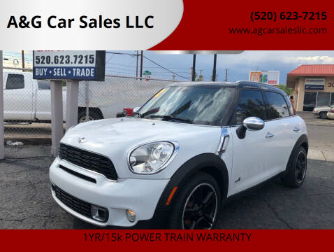 2012 MINI Cooper Countryman for sale at A&G Car Sales  LLC in Tucson AZ