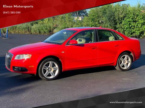 2008 Audi A4 for sale at Klean Motorsports in Skokie IL