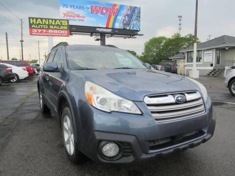 2014 Subaru Outback for sale at Hanna's Auto Sales in Indianapolis IN