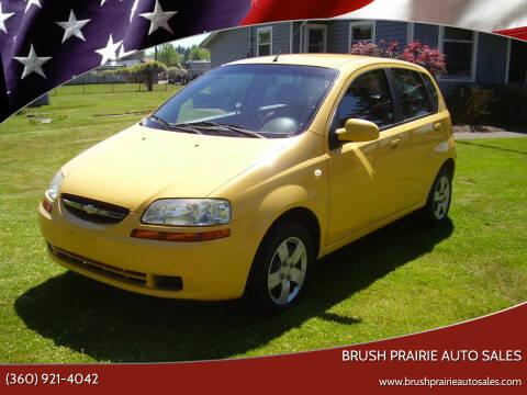 2007 Chevrolet Aveo for sale at Brush Prairie Auto Sales in Battle Ground WA