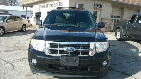 2012 Ford Escape for sale at Long Motor Sales in Tecumseh MI