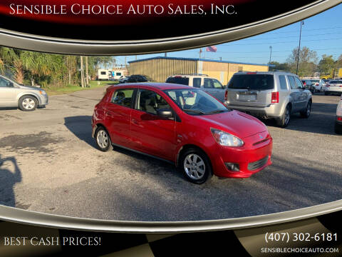 2015 Mitsubishi Mirage for sale at Sensible Choice Auto Sales, Inc. in Longwood FL