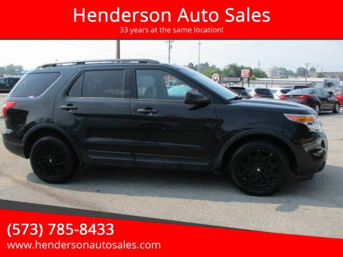 2013 Ford Explorer for sale at Henderson Auto Sales in Poplar Bluff MO