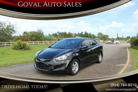 2014 Hyundai Elantra for sale at Goval Auto Sales in Pompano Beach FL