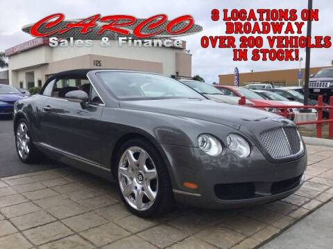 2008 Bentley Continental for sale at CARCO SALES & FINANCE #3 in Chula Vista CA