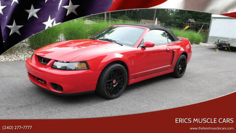 2004 Ford Mustang SVT Cobra for sale at Erics Muscle Cars in Clarksburg MD