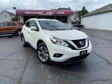 2015 Nissan Murano for sale at Boulevard Used Cars in Grand Haven MI